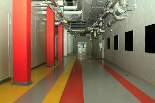 Technology corridor at the factory