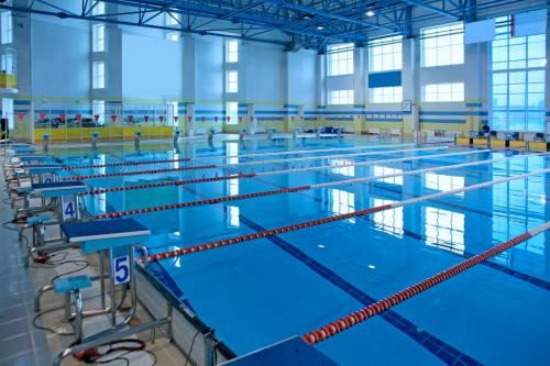 Empty swiming pool